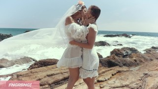 Abi & Vanessa's Summer Wedding Series Part 2 - The Wedding Shemale ts
