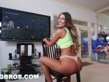 BANGBROS - Video Gamer Chick August Ames Takes A Monster Fucking!