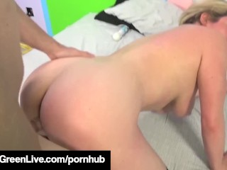 Ms. Busty Maggie Green Blows Mark Zane & Gets His Hot Jizz!
