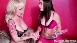 Babes Taylor and Masuimi play with some sexy dice