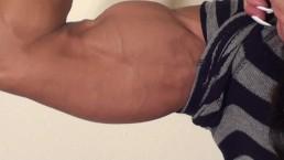 Female Bodybuilder Latia Flexes Big Biceps, Teases and Talks Trash
