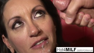 MILF with big tits wants a facial Blowjob sclip
