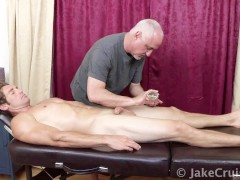 Christian Kennedy Massaged by Jake Cruise