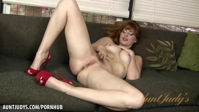 Amber dawn pleasures herself wearing thigh highs 7