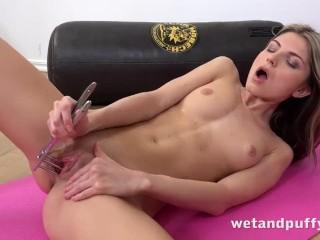 WetAndPuffy - Gina Gerson aka Doris Ivy masturbates with a glass dildo
