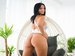 VIRTUAL TABOO - Big Booty Spanish Sister Fucks Herself