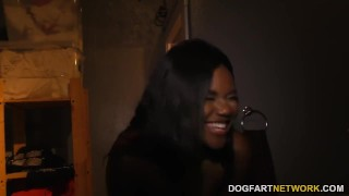 Ebony Yara Skye's First Experience At Gloryhole  teen ebony black blowjob gloryhole pornstar cumshot fetish young hardcore interracial dogfartnetwork teenager facial glory hole