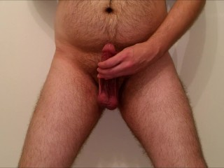 JeromeKox Quickie Masturbation Session Catching A Huge Cumload In My Hand!