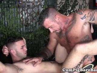 Silver wolf drills muscular studs ass