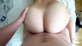 Stepsister morning sex Facial cum