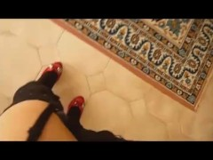 stockings suspender and shoes heels - jessykyna crossdresser