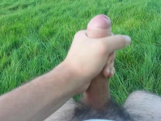Stroking in public with my pants down!