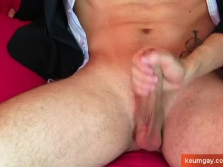 Marc's cock massage ! (innocent straight guy seduced for gay porn)