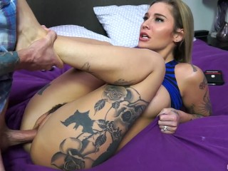 Loving wife gets her pussy hammered by next door neighbor