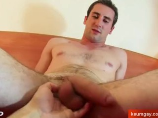Straight guy seduced gay porn