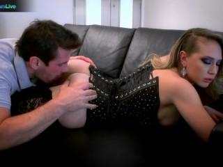 Kagney Linn Karter enjoys thick cock on her pink slit