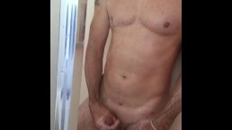 Post workout shower, frenulum play and edging, I couldn't stop the cum