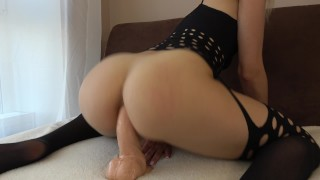 Teen With Tight Anal Tries Huge Dildo First Time With Orgasm Teen exotic