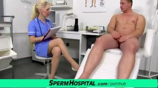 CFNM exam with oily handjob feat. sexy lady doctor Maya porno