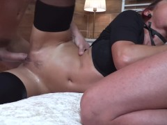 Rose Valerie makes fall two guys into her trap