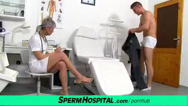Medical sperm videos Cfnm penis medical exam with sexy czech milf doctor beate