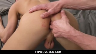 FamilyDick-Daddy and Friend Share His Young Boy Cock suck