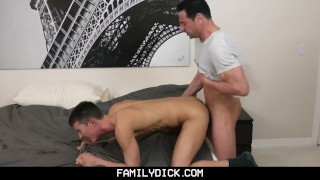 FamilyDick-Daddy and Friend Share His Young Boy Teen pussy