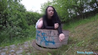 Savage outdoors creampied gets alessa agent public waist for