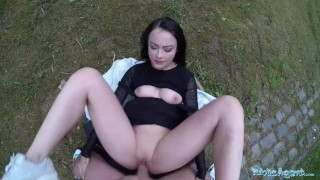 Alessa savage agent public creampied outdoors gets creampie sex