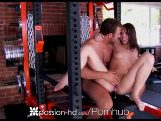PASSION-HD Gym fuck and creampie with brunette Aidra Fox