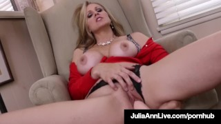 Dildo her julia with pussy bangs a busty dick ann milf hot sextoy big