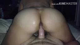 PAWG Amateur sucks and rides dick - makes him cum twice!
