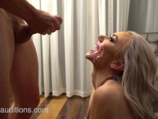Hussie Auditions Blonde Teen Molly Maes First Blowbang