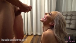 Hussie Auditions: Blonde Teen Molly Mae's First Blowbang