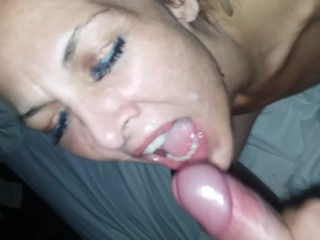 Blondie huge facial