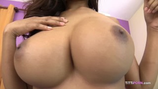 Was jiggle causing to thrusting my boobs big heavy diary asian