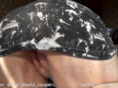 BBW got whole belly covered in cum