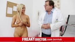 Czech hottie Nicky Angel treated by dirty doctor
