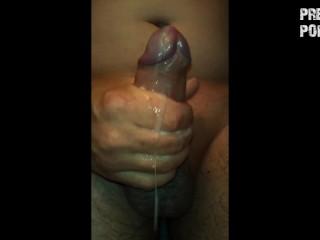 Quick bath masturbation with huge cumshot