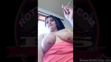 Smoking Topless for Lovers VLOG - ALHANA WINTER - Twiiter Video 2017.03.21