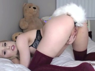 Neighbour Tube LENASPANKS Horny Kitty Cam Girl, Anal, Buttplug Tail