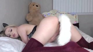 Anal kitty lenaspanks horny tail buttplug girl cam and horny
