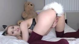 LENASPANKS | Horny Kitty Cam Girl, Anal, Buttplug Tail