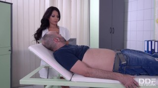 Latin Big Titty Nurse gets her Shaved Pussy Drilled. Teen ass
