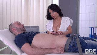 Latin Big Titty Nurse gets her Shaved Pussy Drilled.