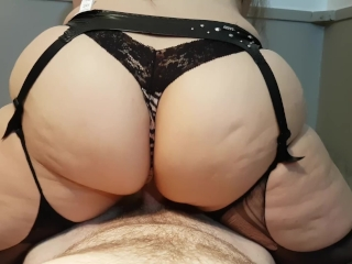 Preview 3 of THICK BOOTY AMATEUR BRUNETTE RIDES AND CUMS ON COCK TO EARN DEEP CREAMPIE