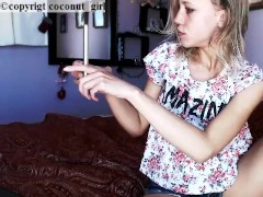 Shy cam girl Small firm tits flash coconut_girl1991_160217chaturbate REC