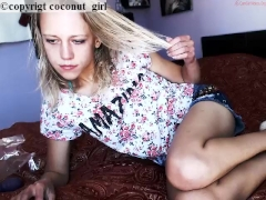 Slender Hot teen girl tease coconut_girl1991_160217 chaturbate REC