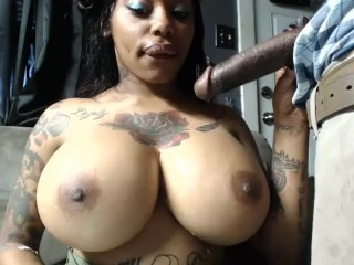 busty bestie plays with my long cock