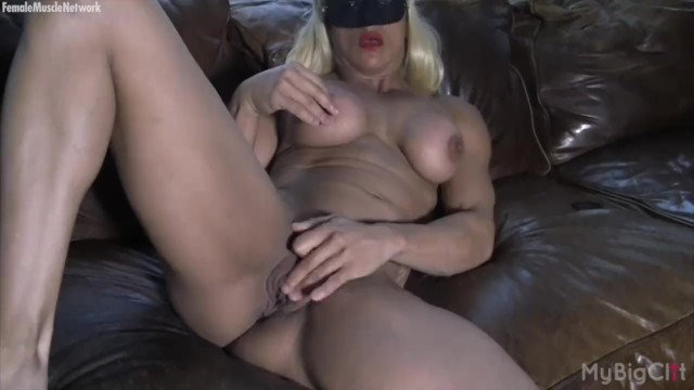 Female bodybuilder buldging clit Naked female bodybuilder masturbates her big clit